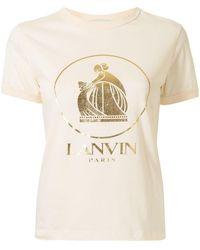 Lanvin T-shirt rwts0007j068a21021 cotone - Neutro