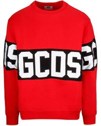 Gcds Logo Sweatshirt - Red