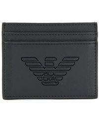 Emporio Armani Black Polyester Card Holder