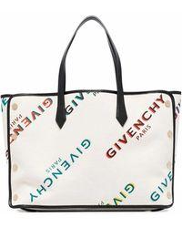Givenchy LEINEN HANDTASCHEN - Weiß
