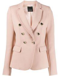 Pinko - Pink Polyester Blazer - Lyst