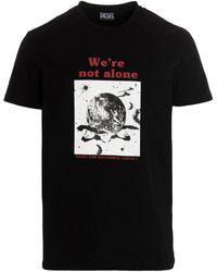 DIESEL A033770wbbf9xx andere materialien t-shirt - Schwarz