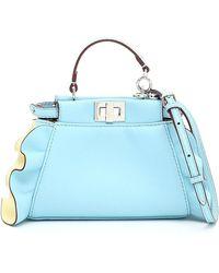 Fendi Light Blue Leather Shoulder Bag
