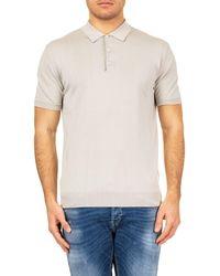 Baracuta Grey Cotton Polo Shirt