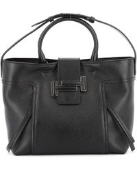 Tod's Black Leather Tote