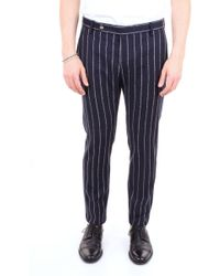 Entre Amis Blue Wool Trousers