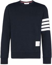 Thom Browne Bar Striped Sleeve Sweatshirt - Blue