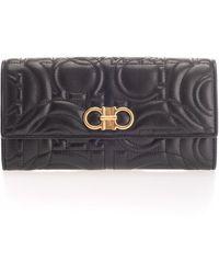 Ferragamo Black Leather Wallet