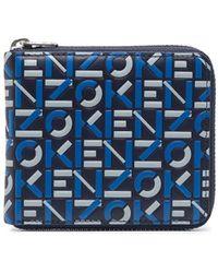KENZO Portemonnaie mit Logo-Prägung - Blau