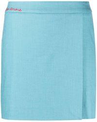 Giada Benincasa Wrap-style Mini Skirt - Blue