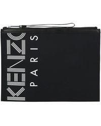 KENZO Black Polyester Pouch