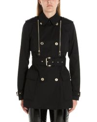Michael Kors Black Cotton Trench Coat