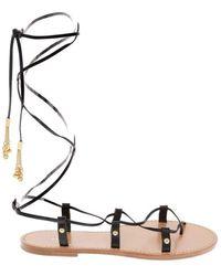 Celine Céline Women's 337653190c38no Black Leather Sandals