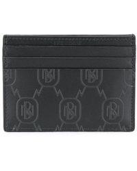 Neil Barrett Leather Card Holder - Black