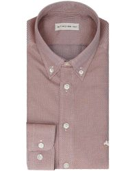 Etro - Red Cotton Shirt - Lyst