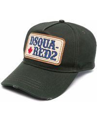 DSquared² Baseballkappe mit Logo-Patch - Grün
