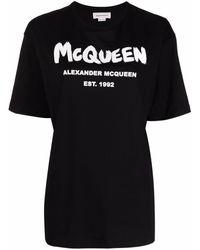 Alexander McQueen BAUMWOLLE T-SHIRT - Schwarz