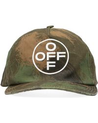 90476186 Off-White c/o Virgil Abloh Marble Cotton Canvas Baseball Hat in Gray ...