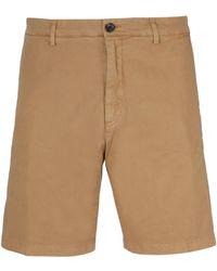 Department 5 Beige Cotton Shorts - Natural