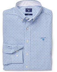 dd7e5116d6c GANT The Indigo Reg Bd Men's Long Sleeved Shirt In Blue in Blue for ...