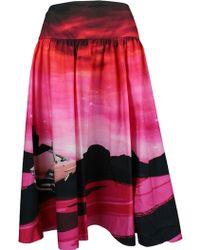 Pinko Fuchsia Cotton Skirt - Pink
