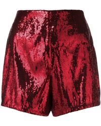 Philosophy Red Polyester Shorts