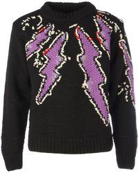 Prada Handmade Flash Shetland Sweater - Black