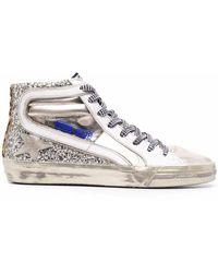 Golden Goose High-Top-Sneakers mit Glitter - Mettallic