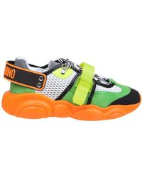 Moschino Multicolor Polyester Sneakers - Green