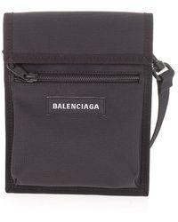 Balenciaga Polyester Messenger Bag - Black