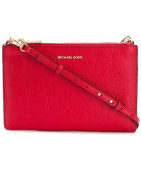 Michael Kors Red Leather Clutch