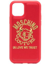 Moschino Polyester Cover - Red