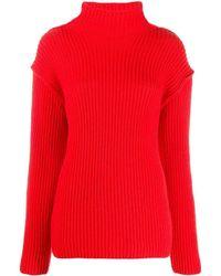 Tory Burch Red Wool Jumper