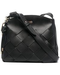 Liu Jo Luxury Fashion AA1300E000322222 Schwarz Kunstleder Schultertasche | Ss21