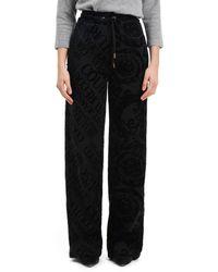 Versace Cotton Trousers - Black