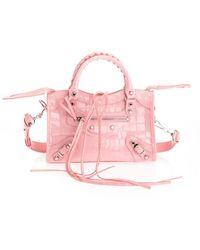 Balenciaga LEDER SCHULTERTASCHE - Pink