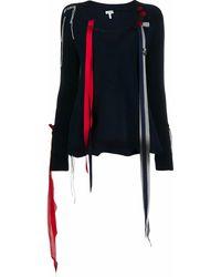 Loewe - V-neck Ribbon Detail Jumper - Lyst