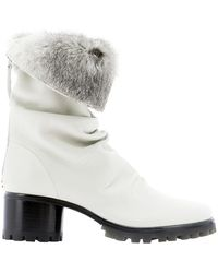 Halmanera Leather Ankle Boots - White