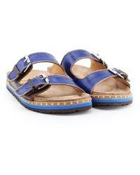 Maliparmi Sj0177 Leather Sandals - Blue