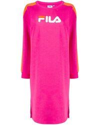 Fila Cotton Dress - Purple