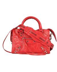 Balenciaga Red Leather Handbag