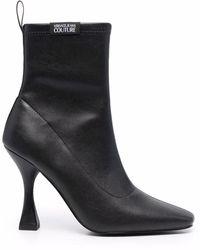 Versace Jeans Couture 71va3s8671567899 polyurethan stiefeletten - Schwarz