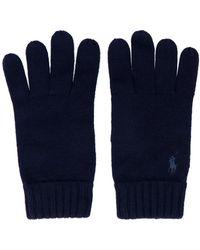 Ralph Lauren Blue Wool Gloves