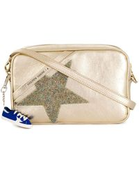 Golden Goose Deluxe Brand Gold Leather Shoulder Bag - Metallic
