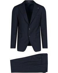 Tagliatore Cotton Suit - Blue