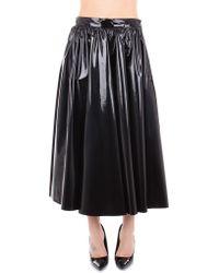 MSGM Black Synthetic Fibres Skirt