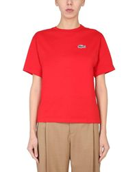 Lacoste ANDERE MATERIALIEN T-SHIRT - Rot