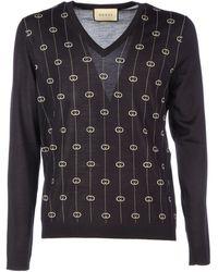 Gucci Blue Wool Sweater