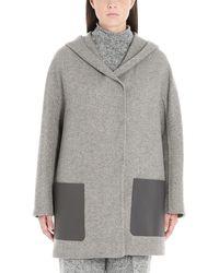 Agnona Grey Cashmere Coat - Gray