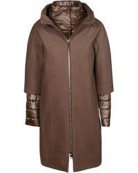 Herno Bronze Wool Coat - Brown